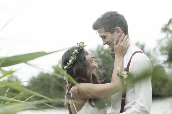 Ein Hochzeitsvideo mit Herz aus Düsseldorf. Imagefilm für eine Traurednerin vom Kamerateam TVGestalter.